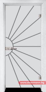 Стъклена врата модел Gravur 13-2 – Бреза