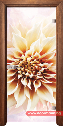 Стъклена врата модел Print 13-5 - Златен дъб