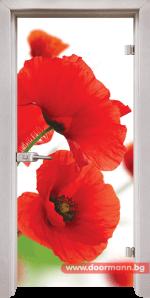 Стъклена врата модел Print 13-8 – Перла