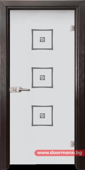 Стъклена врата модел Sand 14-3 - Венге