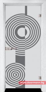 Стъклена врата модел Sand 14-6 – Бреза