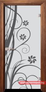 Стъклена врата модел Sand 14-7 – Златен дъб