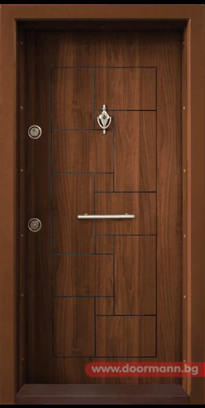 Блиндирана входна врата Т100 - Златен дъб