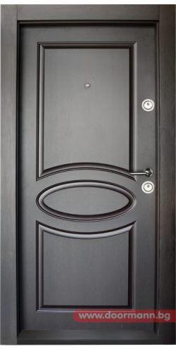 Блиндирана входна врата модел BG 001 M, цвят Венге