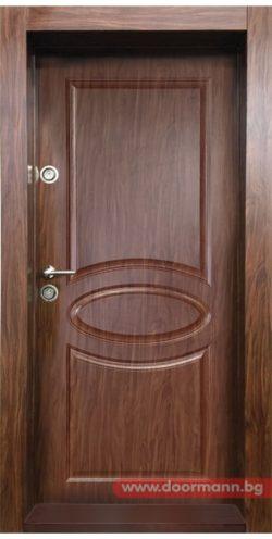 Блиндирана входна врата модел BG 001 M, цвят Златен дъб