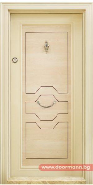 Блиндирана входна врата Модел Т 306, цвят Клен