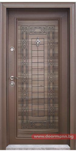 Блиндирана входна врата с код Т684, цвят Спарта
